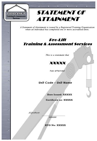 RII Certificate